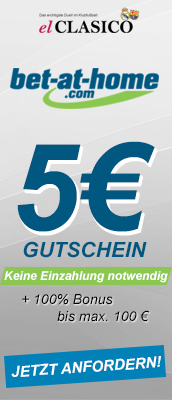 Bet-at-Home 5€ Gutschein